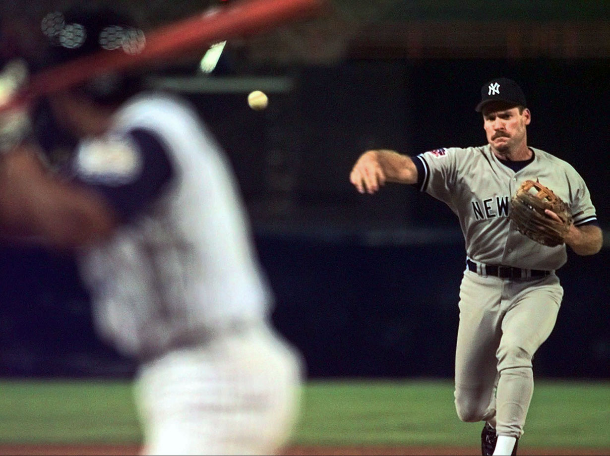 With the Yankees down 12-4, Wade Boggs pitched a shutout eighth inning against the Angels, making history with 16 perfectly placed knuckleballs. The New York Times reports Boggs saying, ''It's something I've always wanted to do in my career and I never really had the opportunity... I was Phil Niekro and Charlie Hough all rolled into one.'' Chanting his name, fans of both teams at Anaheim Stadium gave Boggs a standing ovation.