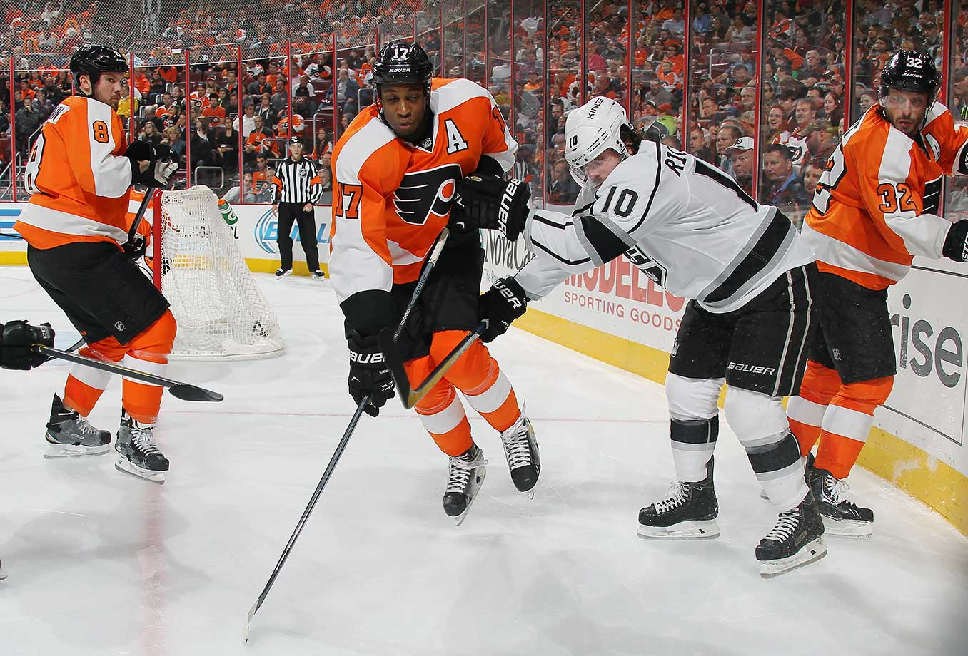 The Kings snagged Simmonds with the 61st pick in 2007 after their Feb. 26 deadline deal that sent Brent Sopel to Vancouver. His physical presence and commitment to two-way hockey made him a fan favorite and he caught the eyes of rival GMs, including Philadelphia's Paul Holmgren, who demanded the rugged power forward in exchange for Mike Richards at the 2011 draft. A high price to pay, but it helped the Kings win their first-ever Stanley Cup.