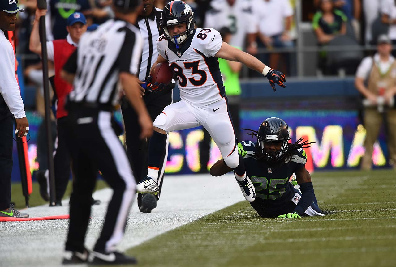 Wes Welker played his first game since returning from a suspension, catching six passes for 60 yards.