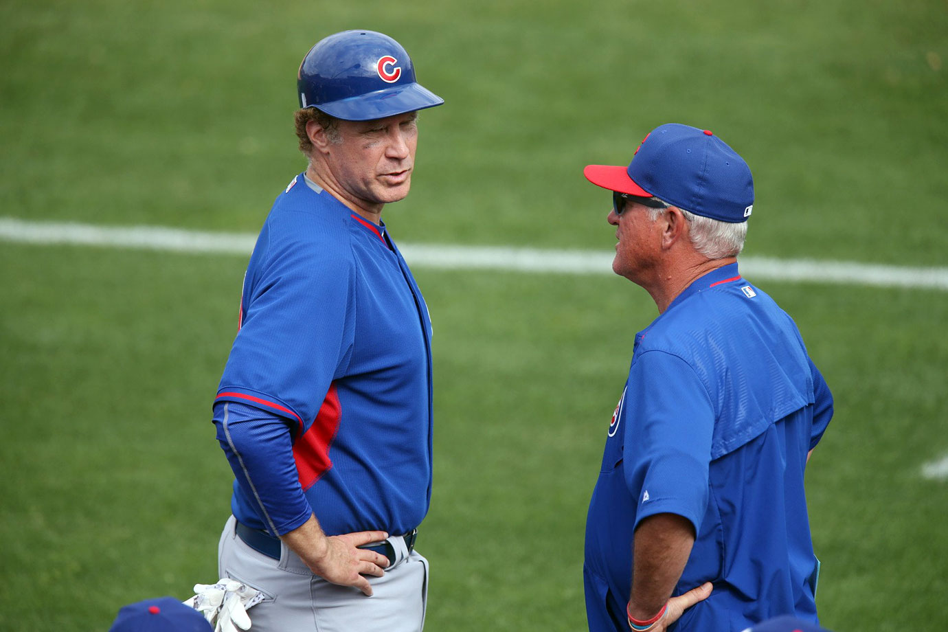 with manager Joe Maddon