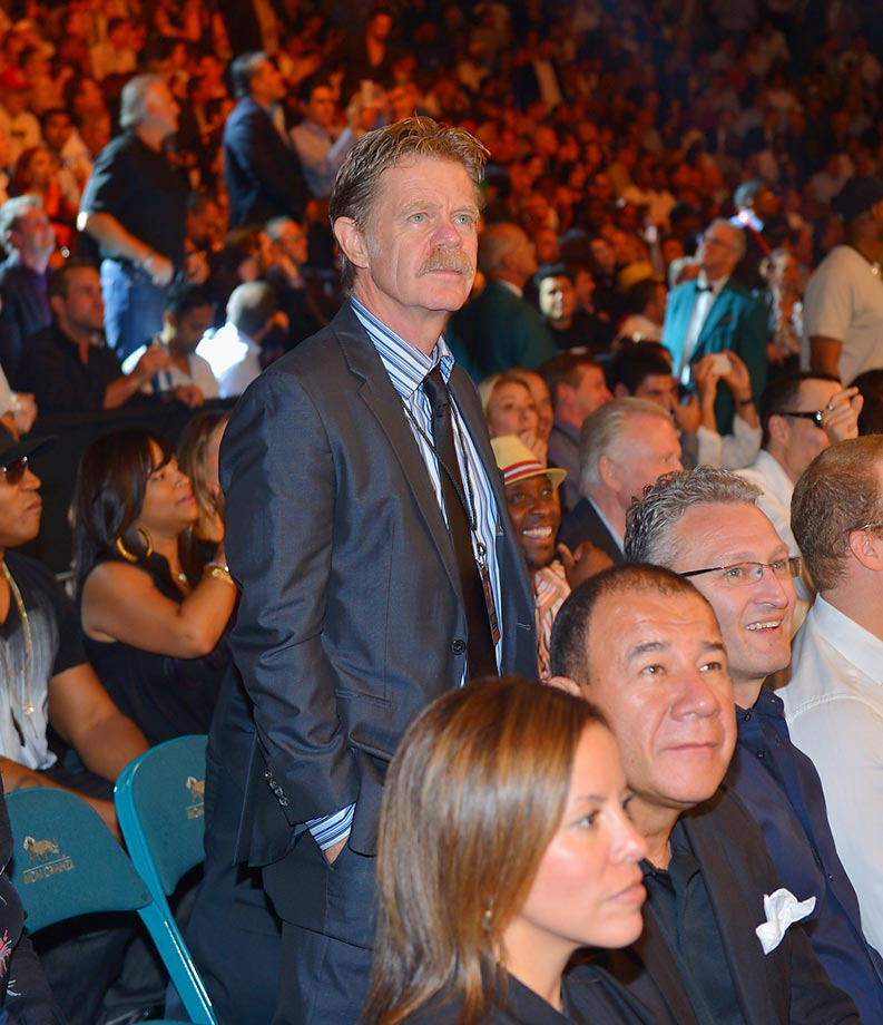 William H. Macy attends the Floyd Mayweather Jr. vs. Canelo Alvarez boxing match.