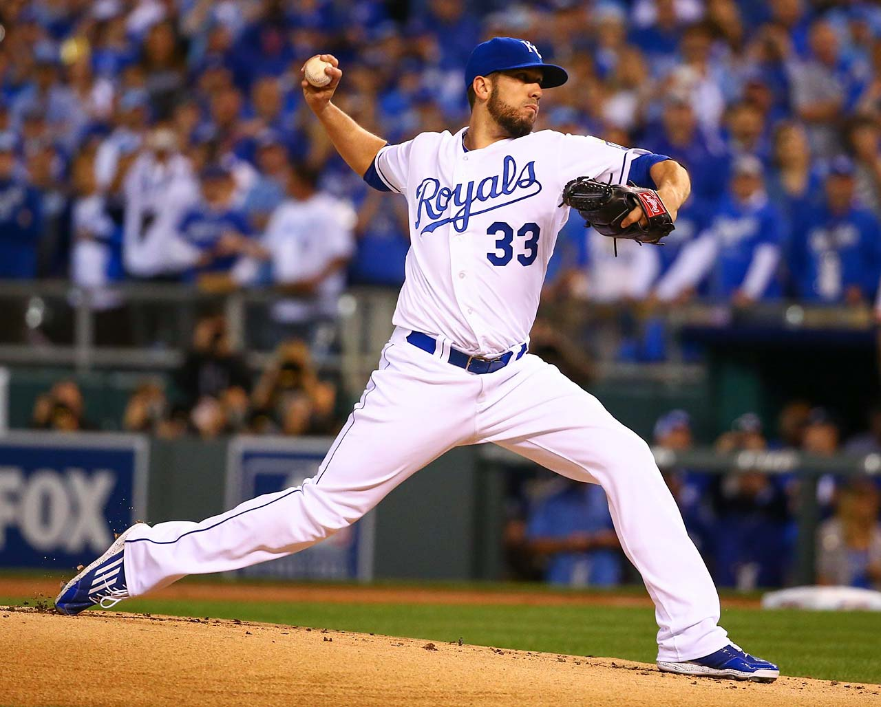 James Shields was lifted after pitching to three batters in the fourth inning. He yielded five earned runs and struck out only one in his shortest outing since 2008.