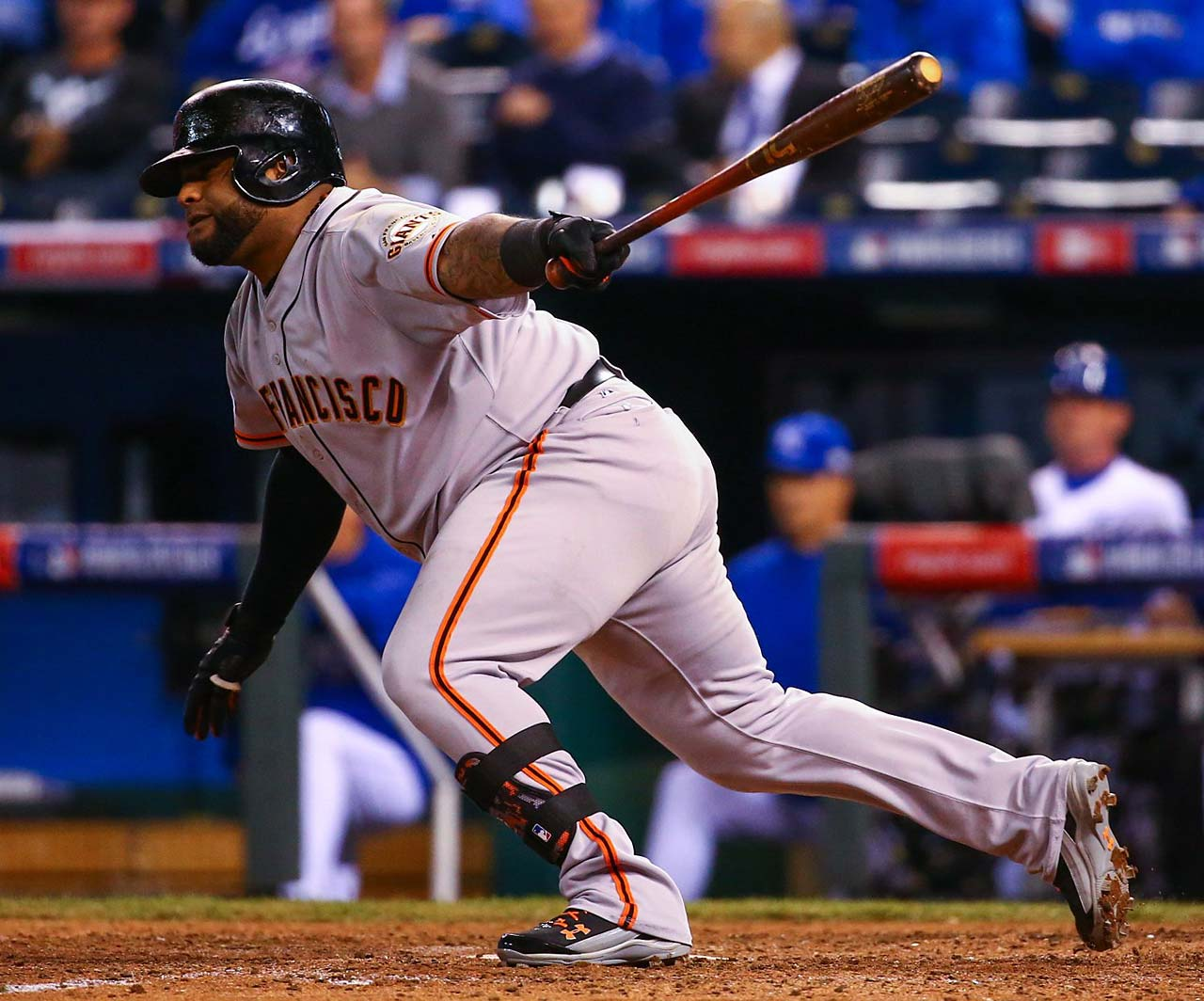 Pablo Sandoval, the World Series MVP in 2012, delivered this RBI single in the seventh.