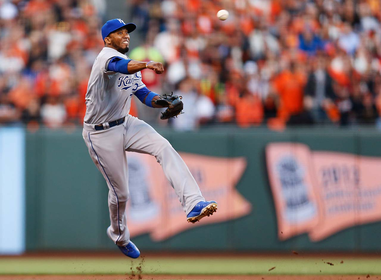 Alcides Escobar was solid in the field again and went 2-for-4 at the plate and scored twice.