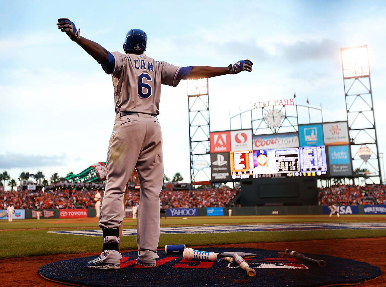 The Giants had won six consecutive World Series games at their home park before Lorenzo Cain and the Royals won Friday night.