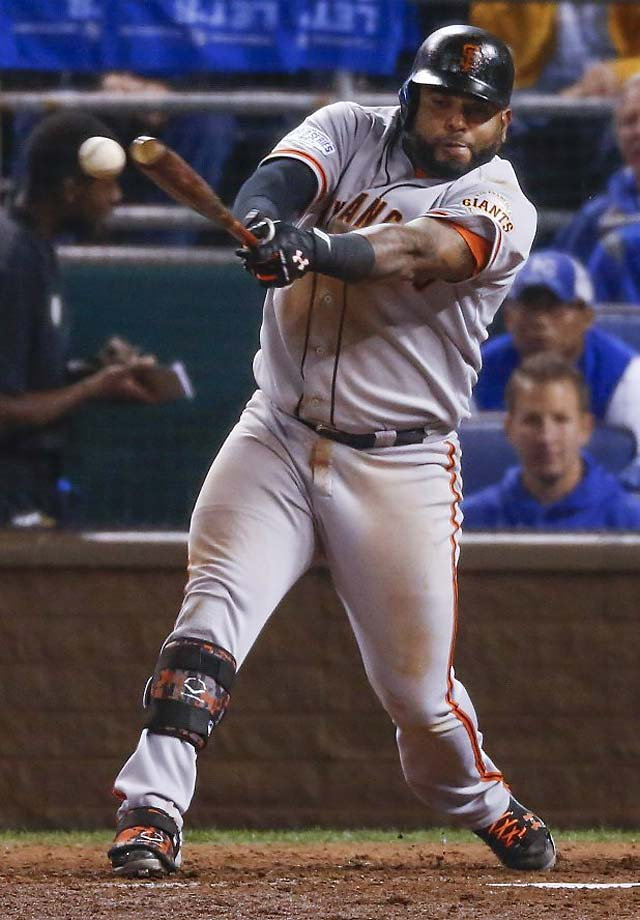 Pablo Sandoval set a new postseason record by getting 26 hits during the Giants' playoff run.