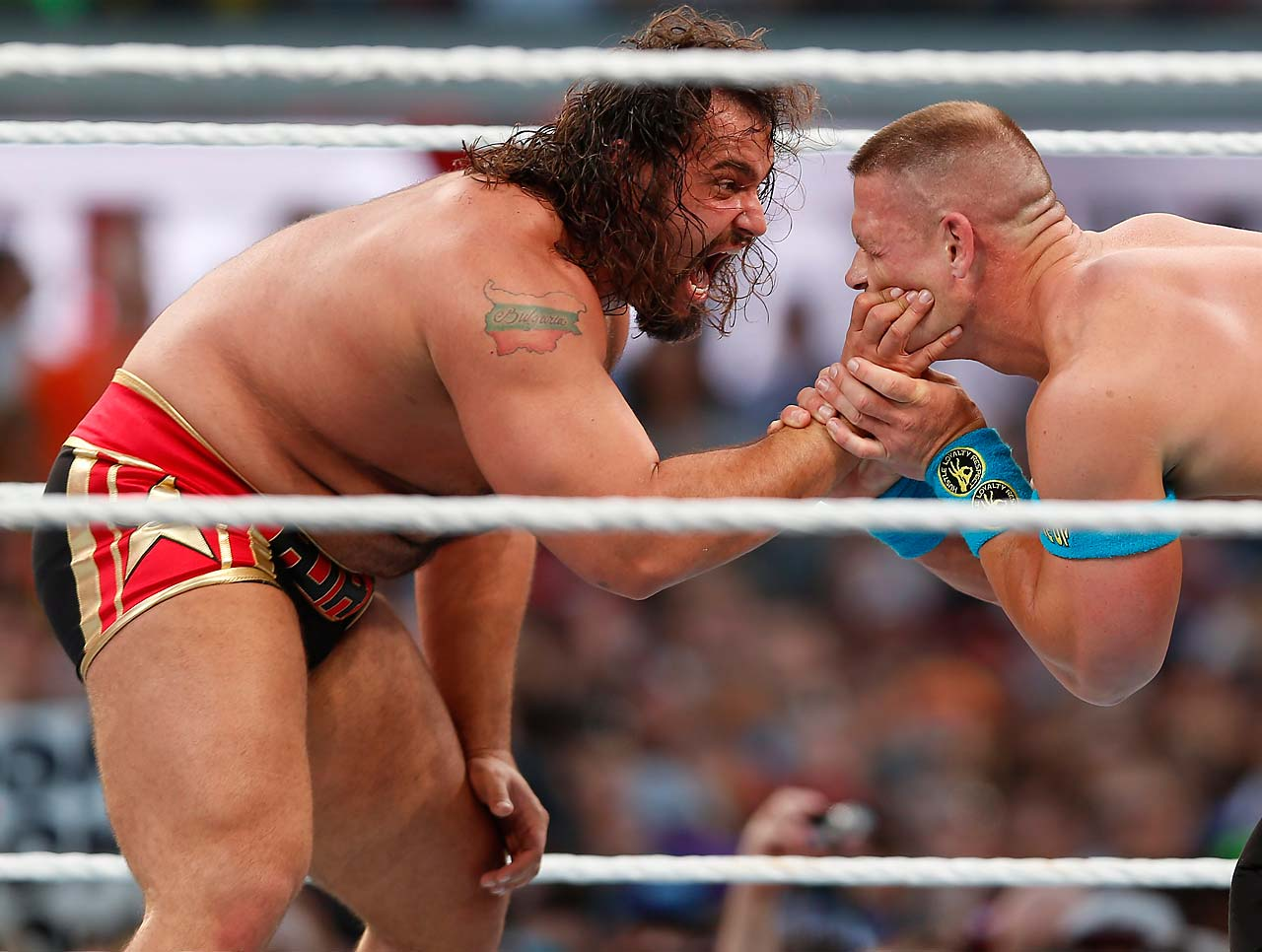 Rusev and John Cena