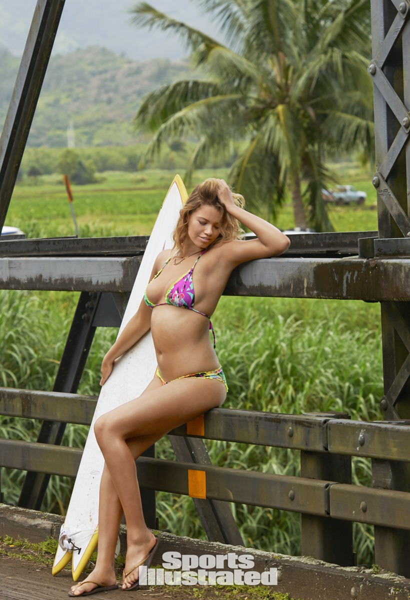 Hailey Clauson was photographed by Yu Tsai in Kauai.