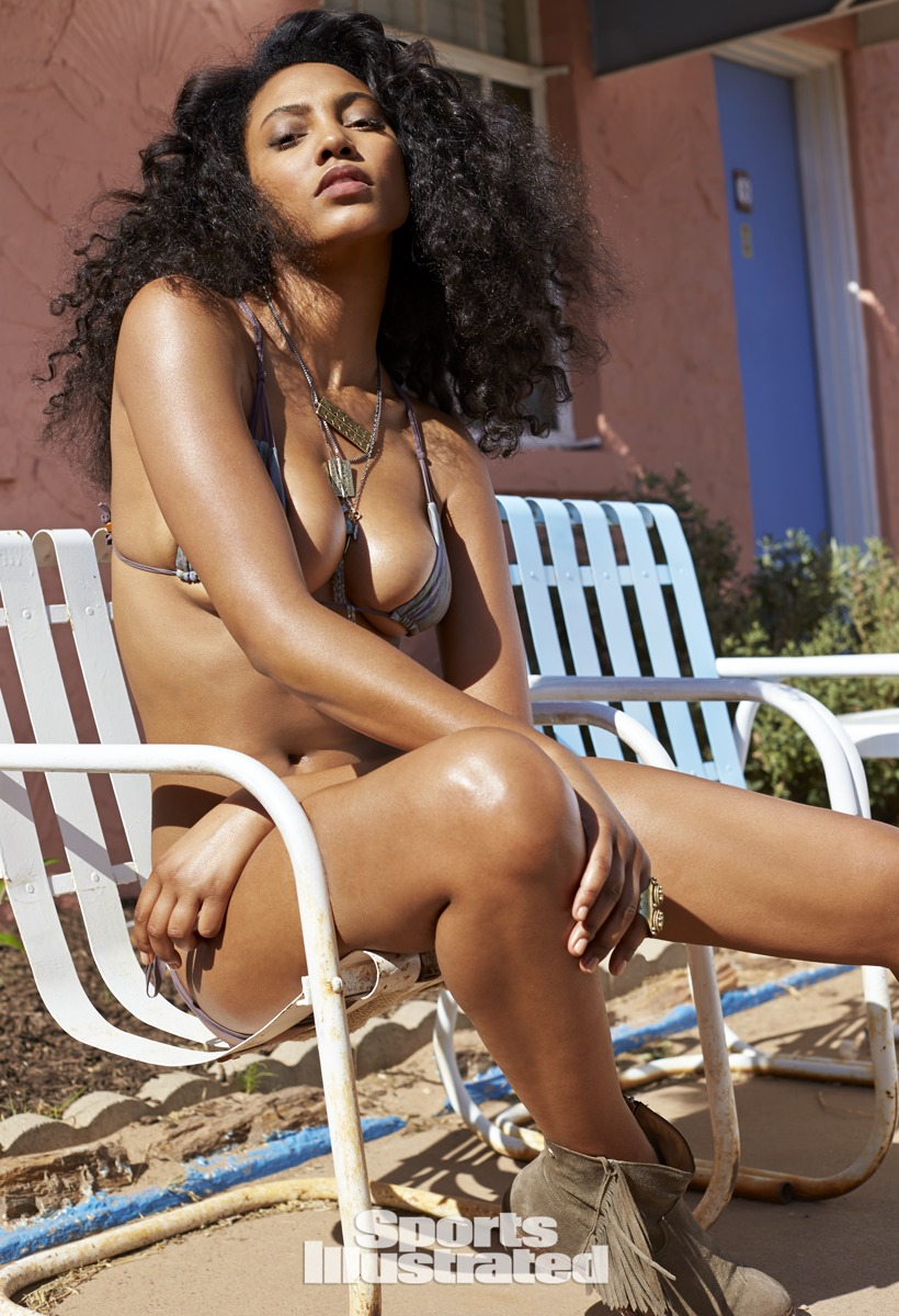 Ariel Meredith was photographed by Ben Morris on U.S. Route 66.