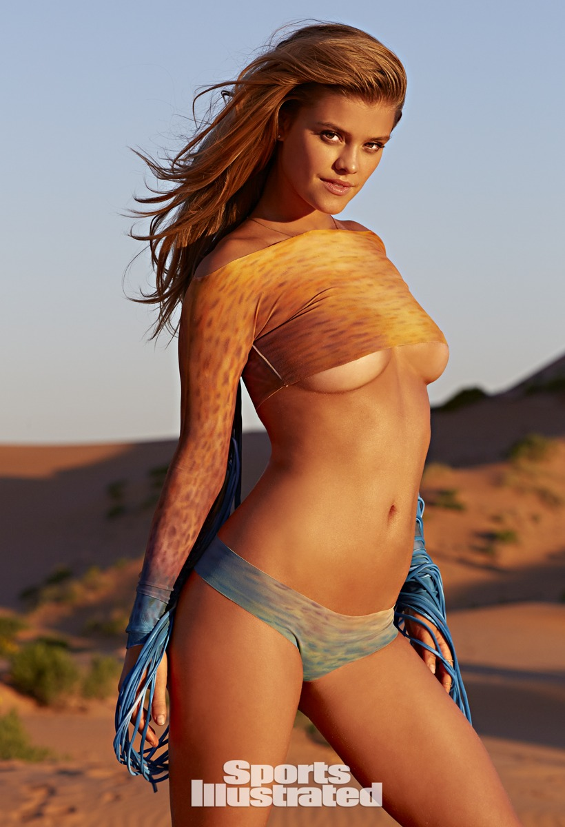 Nina Agdal was photographed by James Macari in Utah.