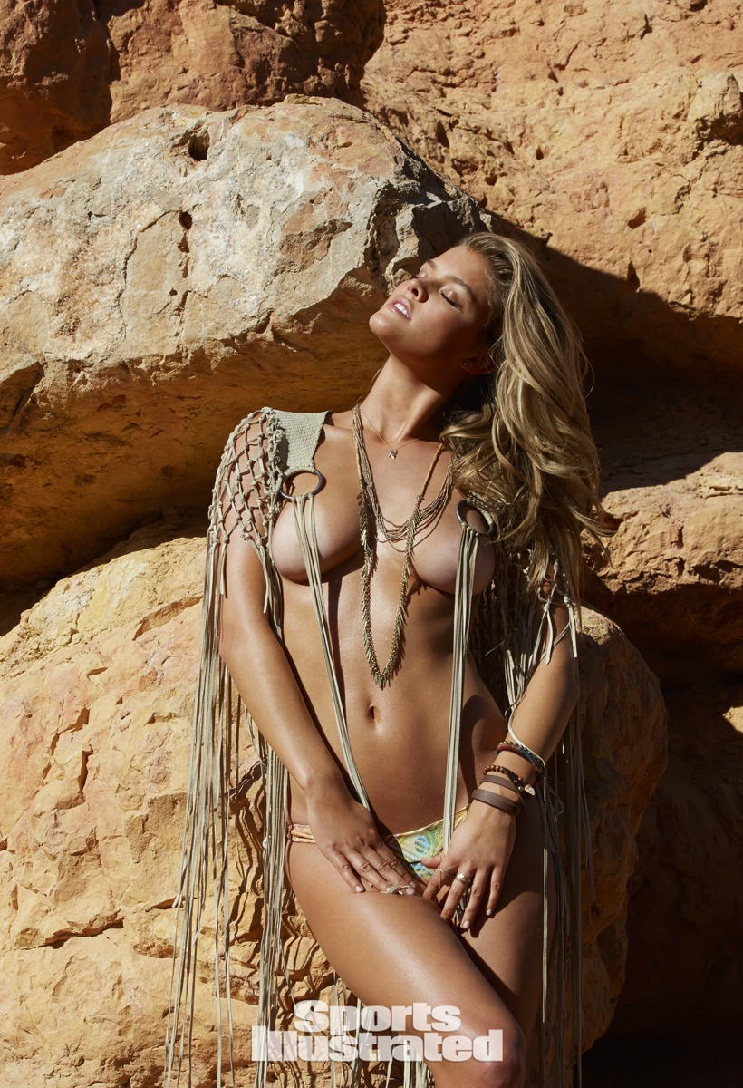 Nina Agdal was photographed by James Macari in Utah.