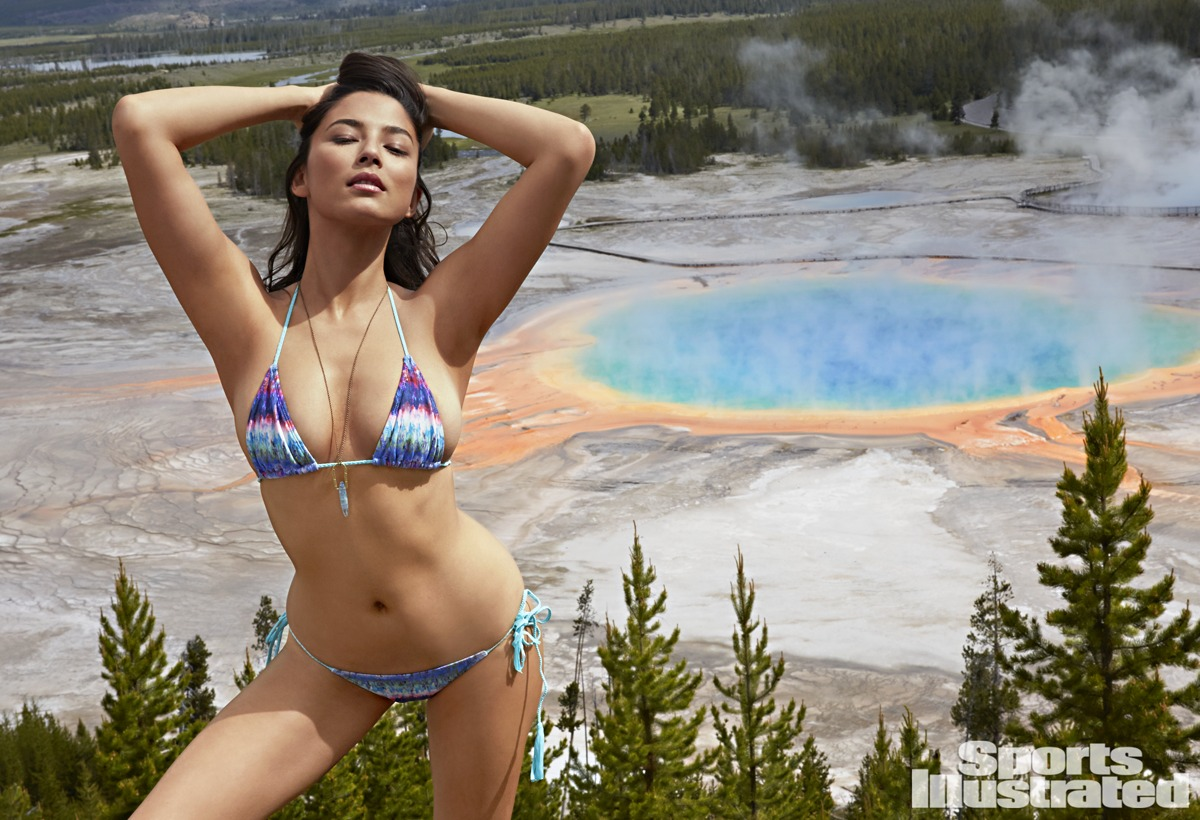 Jessica Gomes was photographed by James Macari in Yellowstone National Park.