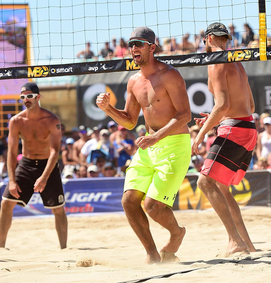 Sean Rosenthal pretty happy to split $13k and rack up 750 AVP points….win the Open and add his plaque to the pier next year.
