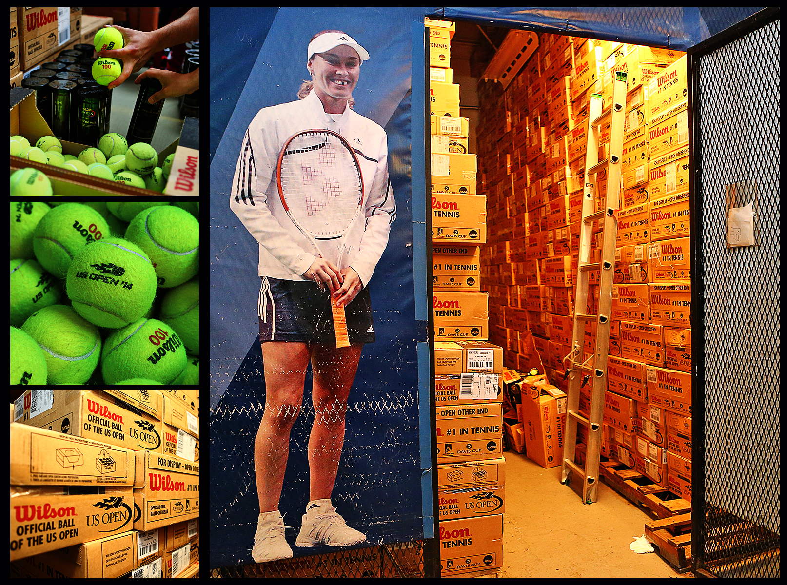 Number of tennis balls used at the U.S. Open.