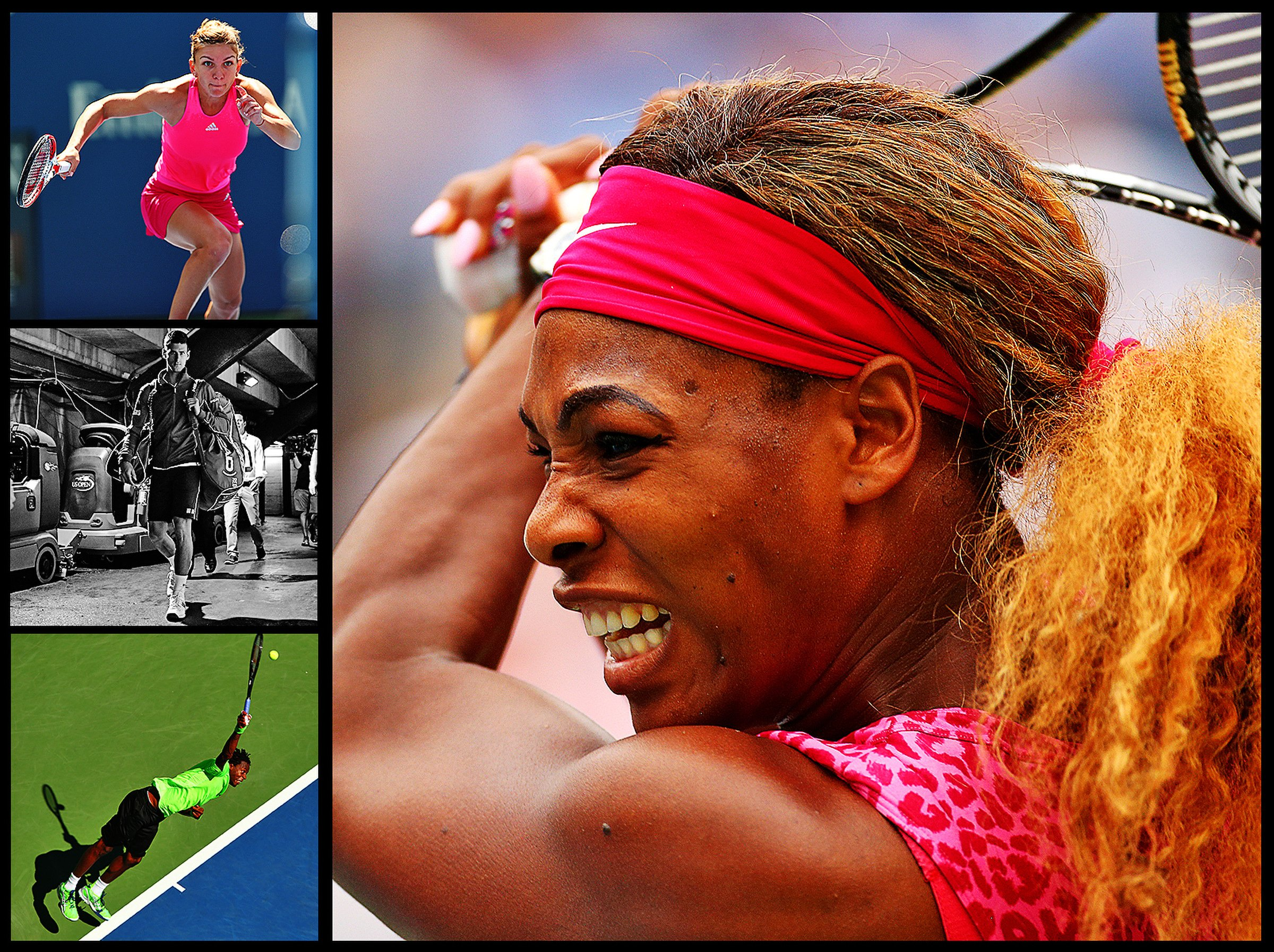 Number of matches won in Arthur Ashe Stadium by Serena Williams through the 2014 round of 16, the most by any player since the stadium's inaugural year in 1997. Williams is competing for her third consecutive Open title, sixth overall, and her 18th Grand Slam win.