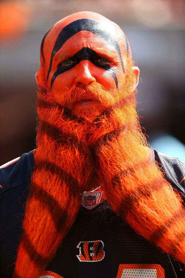 A Cincinnati Bengals fan during a game against the Falcons.