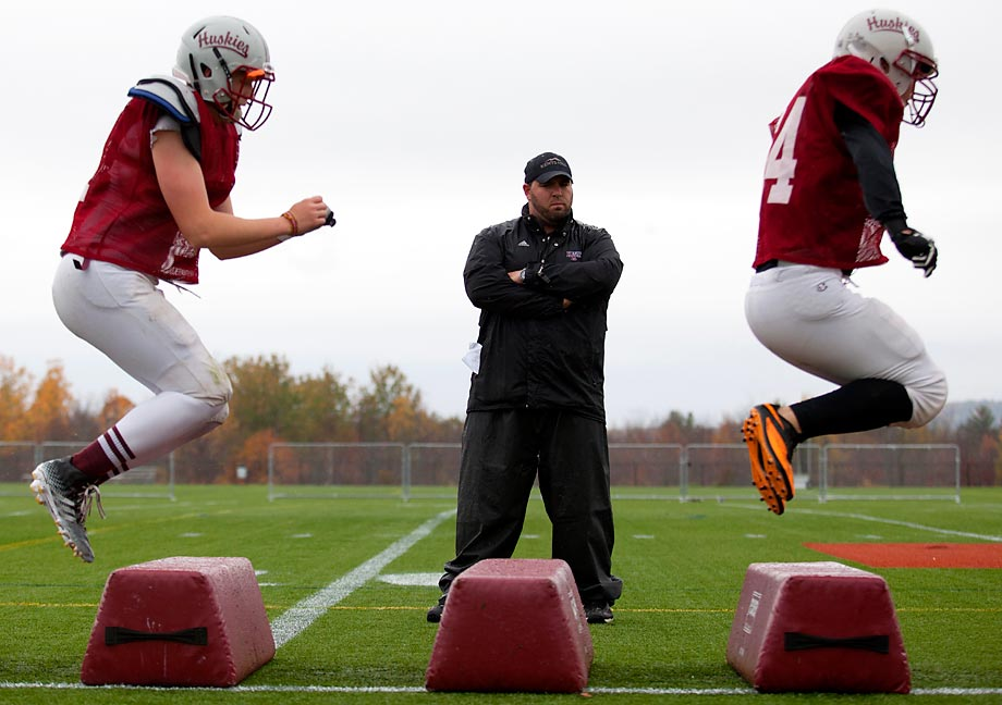 Kents Hill High School's distinctive football practice.