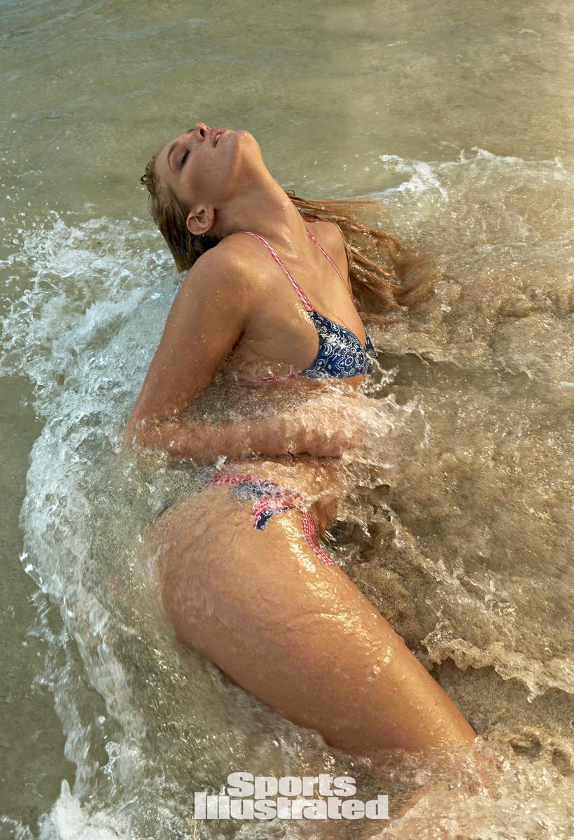 Erin Heatherton was photographed by Yu Tsai in St. John, US Virgin Islands. Bodypainting by Joanne Gair. Swimsuit inspired by MilkBaby Bikini by Cat Thordarson.