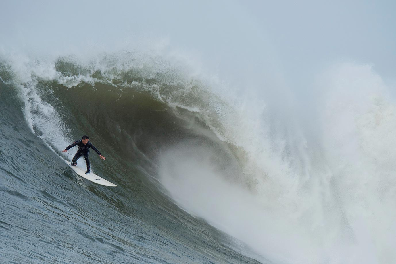 The waves at Mavericks ranged between 35- and 45-feet in height.