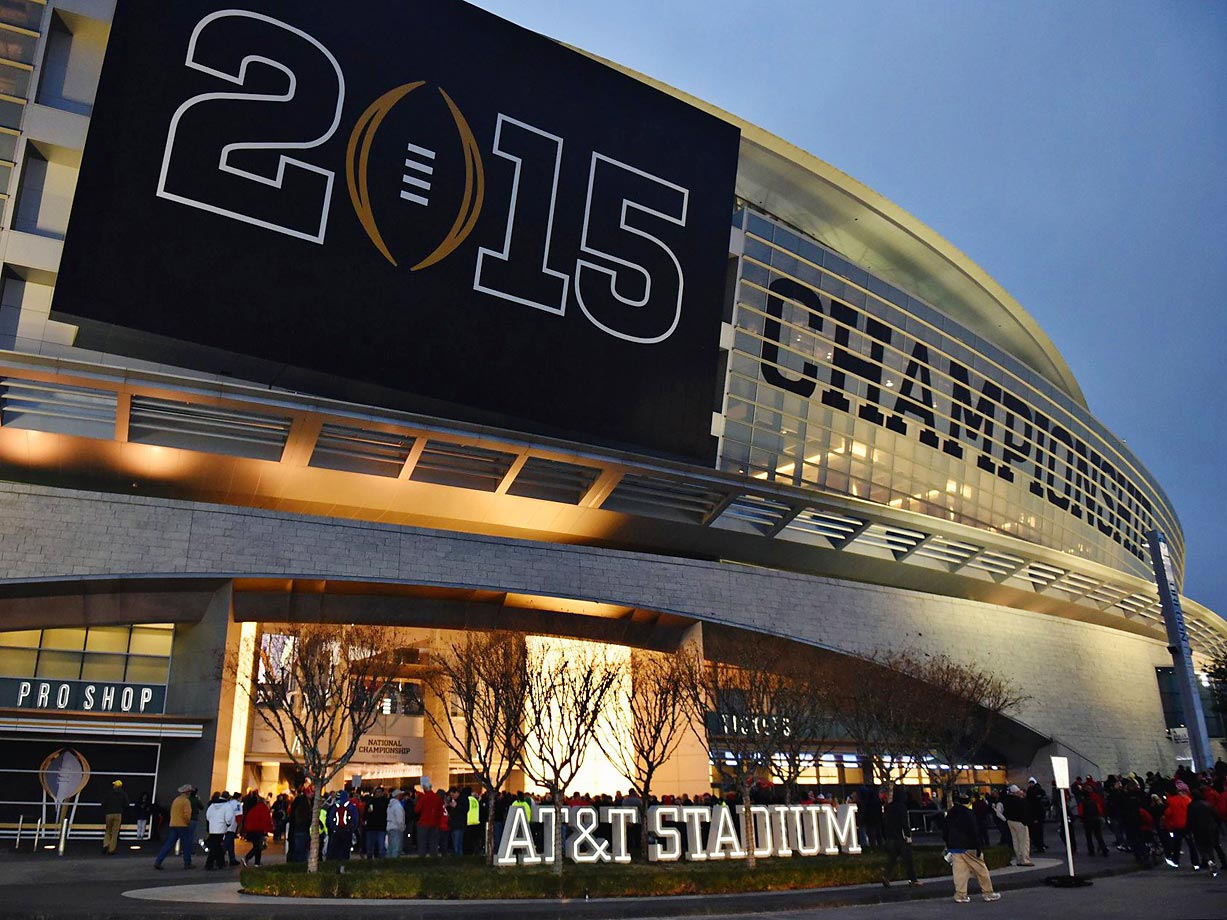 AT&T Stadium, home of the NFL's Dallas Cowboys, hosted the first final of the new College Football Playoff.