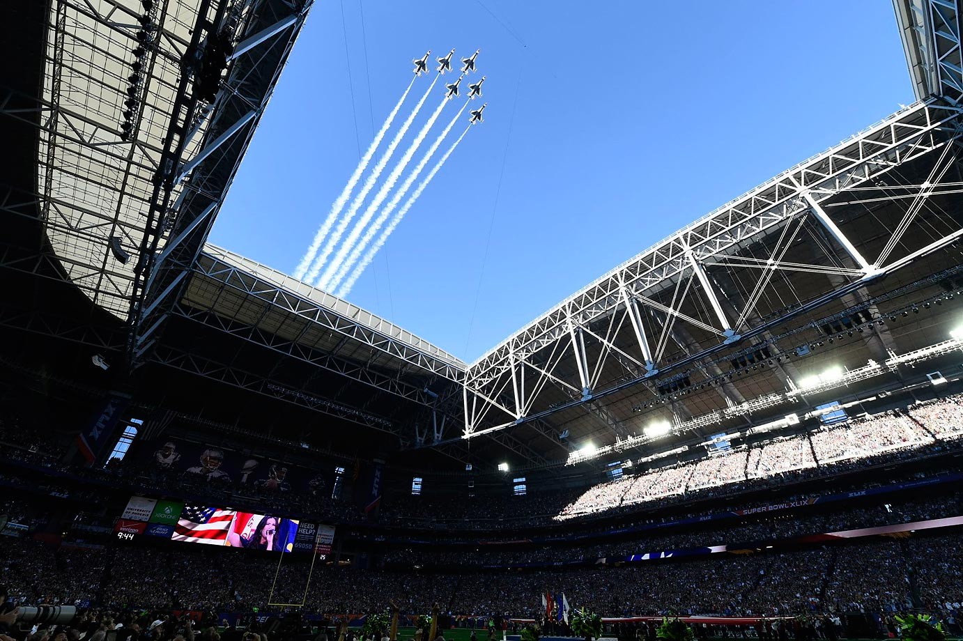 The flyover at the start of the game.