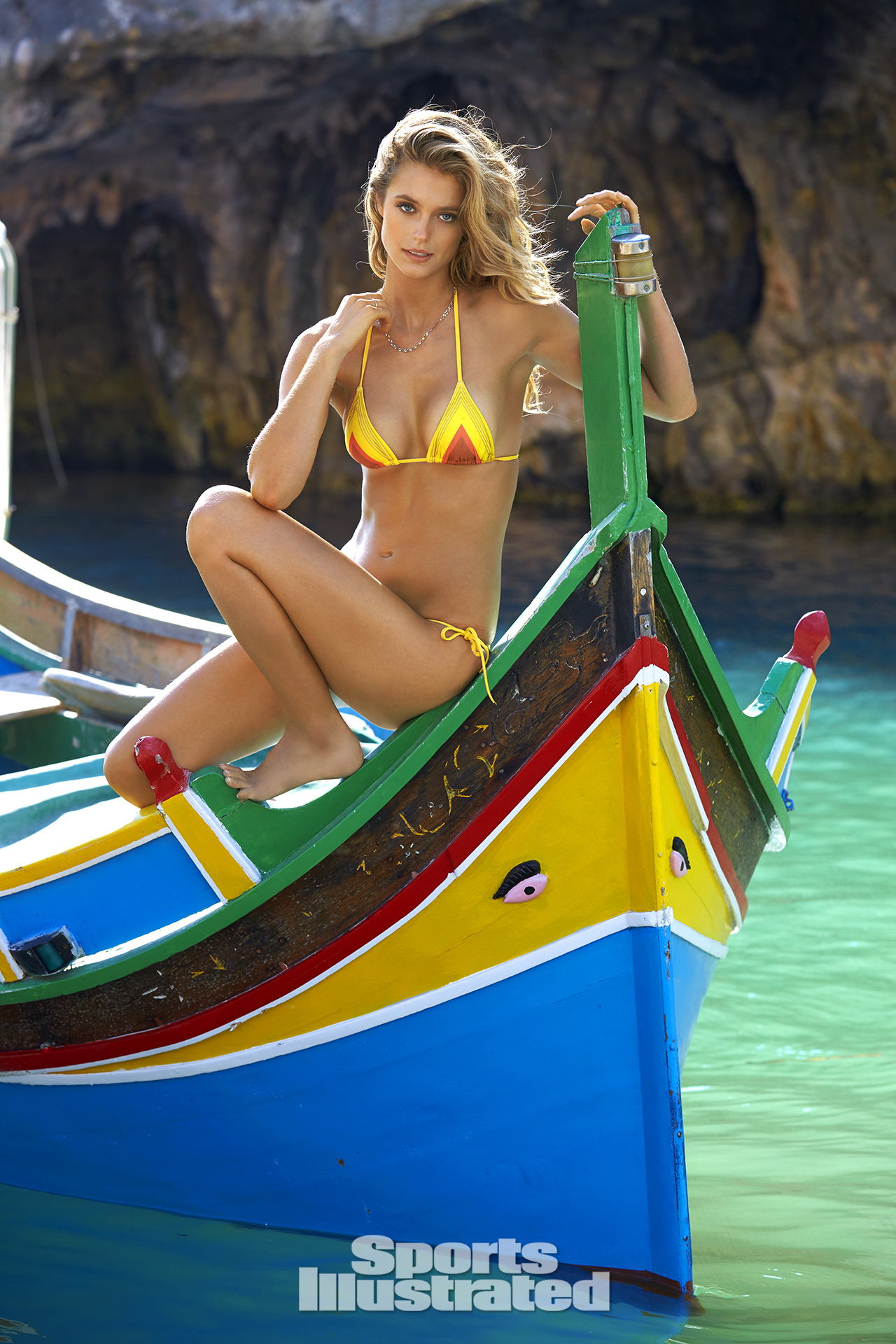 Kate Bock was photographed by Ben Watts in Malta. Swimsuit by Charlie by Matthew Zink.