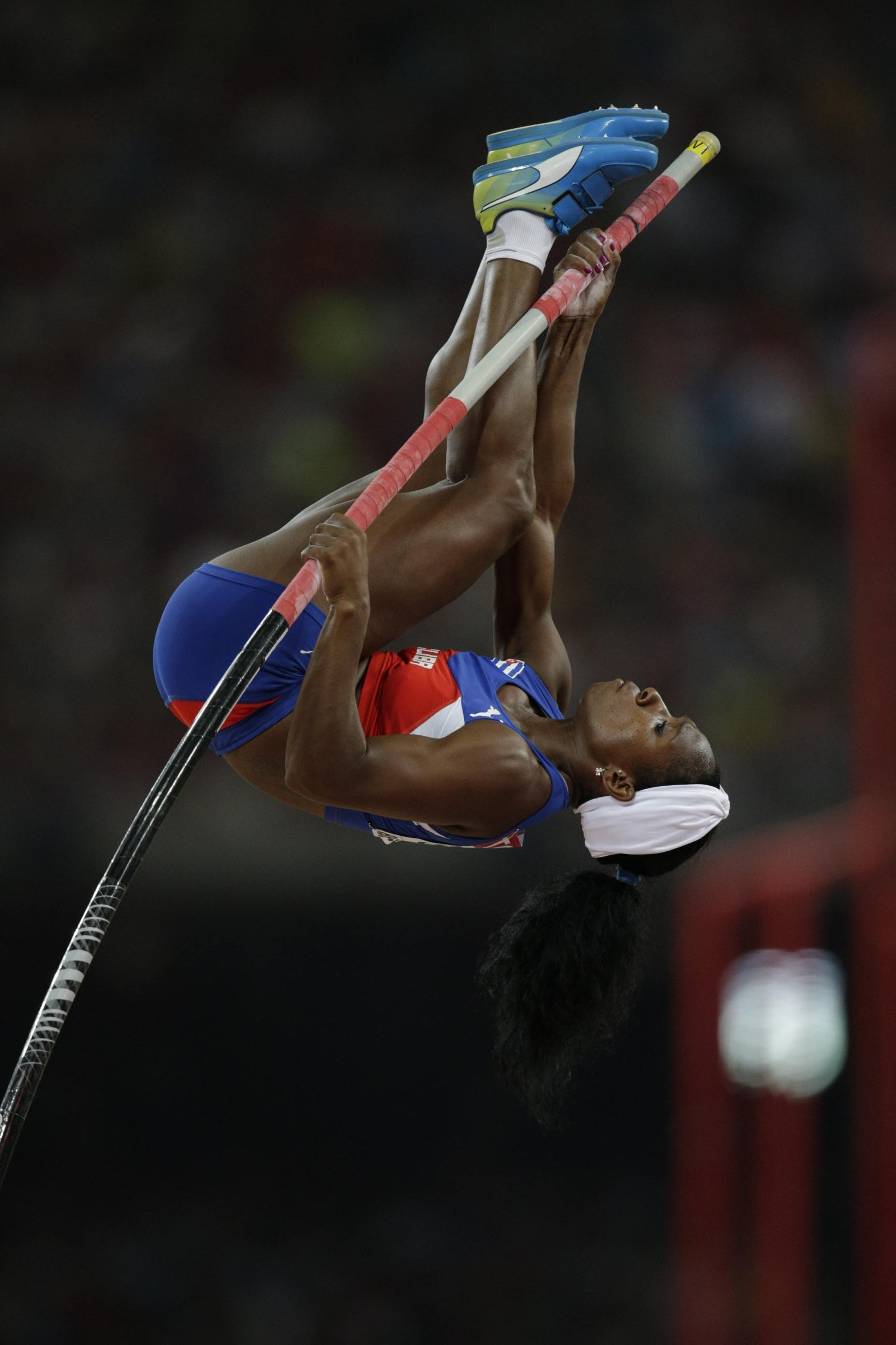 Yarisley Silva (CUB) cleared the 4.90-meter height for gold at the world championships.