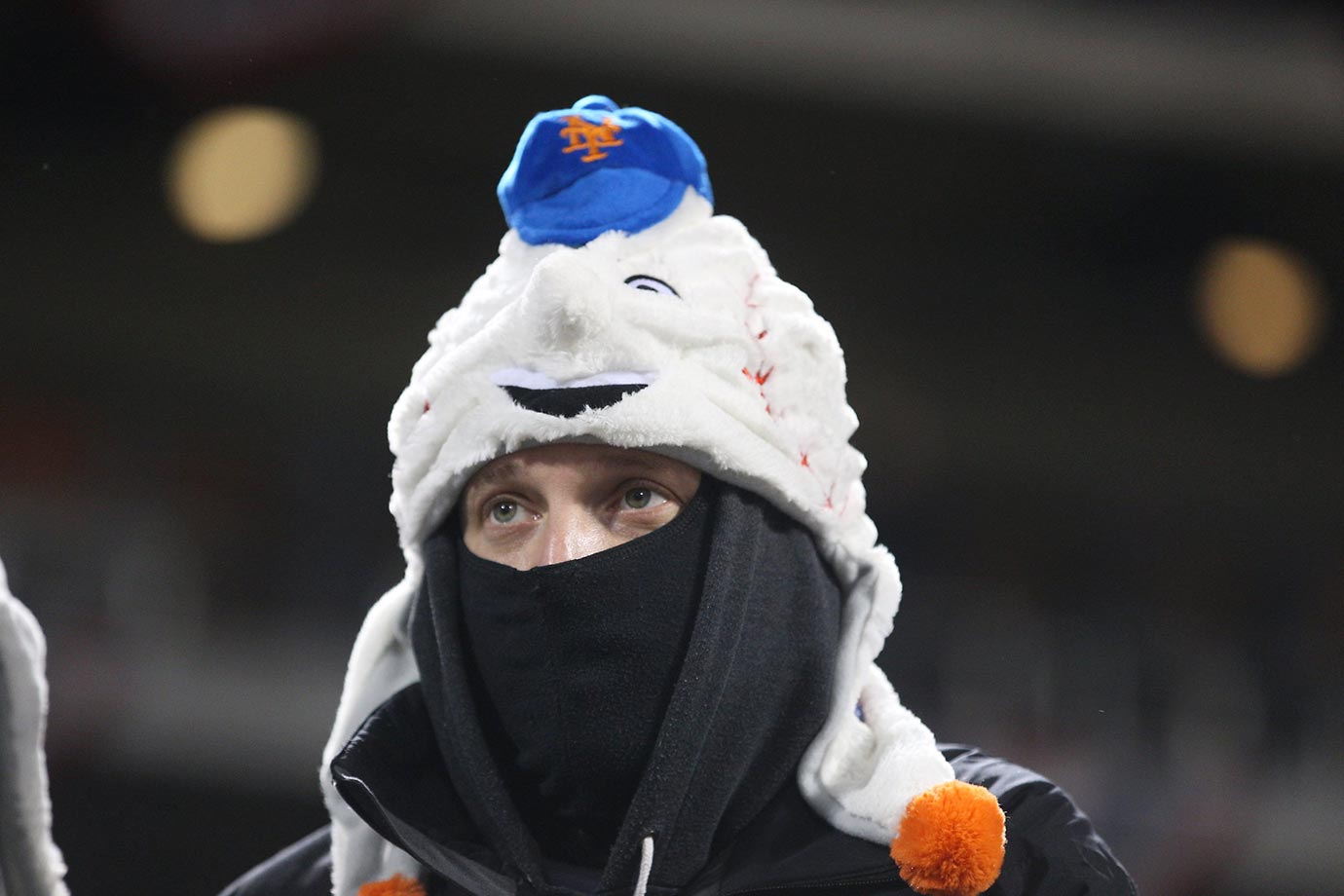 It was cold in New York for Game 2 of the NLCS.