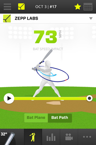 Using the iOS app for Zepp, users can track multiple metrics about their swing.