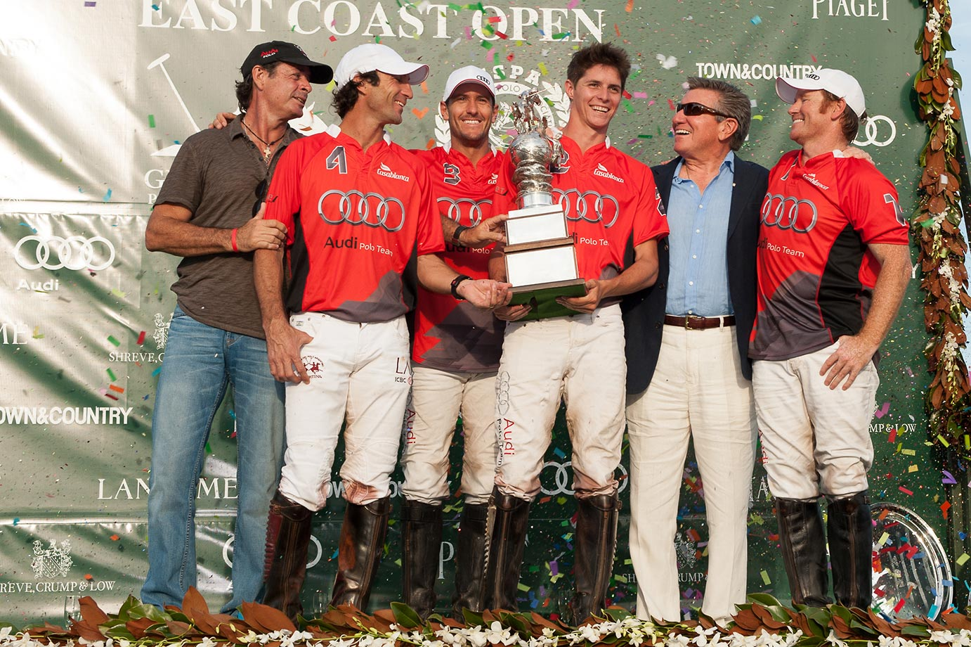 Team Audi celebrates its 2015 East Coast Open win over White Birch for the Perry Cup.