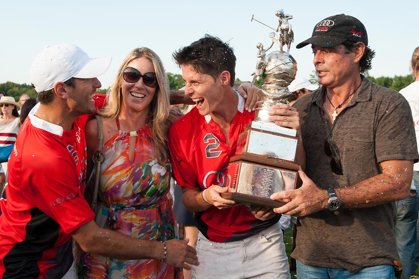 Nic Roldan and Juancito Bollini celebrate winning the 2015 East Coast Open Finals and the Perry Cup.