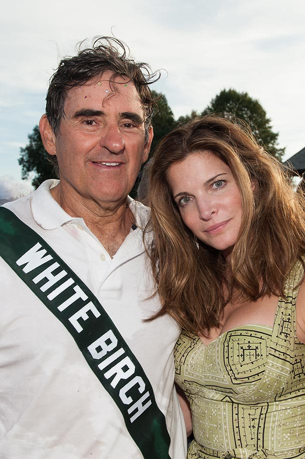 Peter Brant and Supermodel Stephanie Seymour Brant, who presented the trophy to individual winners.