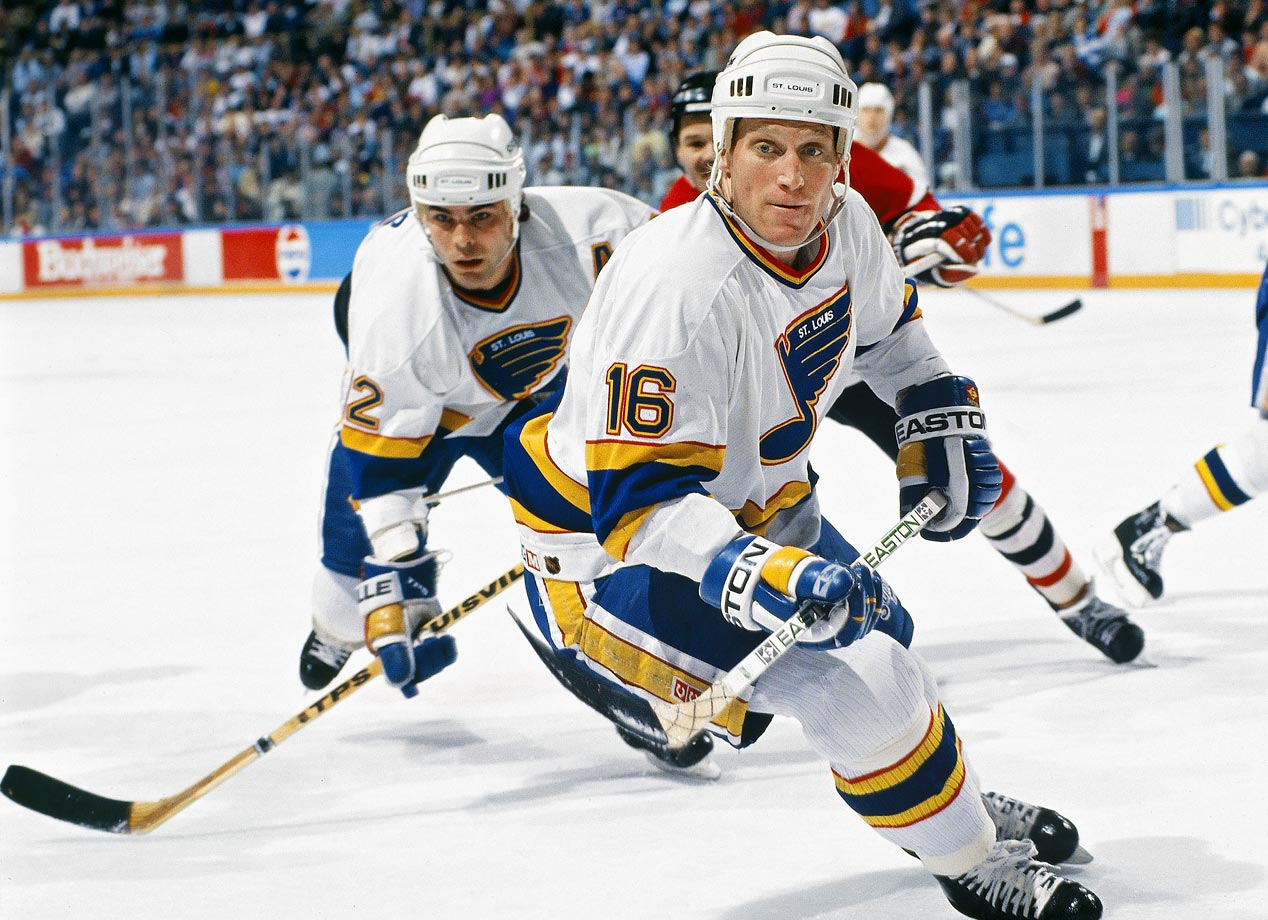 "From 1989 to 1992, Hall of Famers Hull and Oates were a smash in St. Louis as the NHL's most prolific top line pair. With Oates feeding him uncanny passes, Hull produced league-leading seasons of 72, 86, and 70 goals, the best totals of his career. Their amazing chemistry was the result of friendship as well as talent. ""To be able to play with a guy that you were just as close with off the ice as you were on the ice, I think that had a lot to do with how successful we were,"" Hull told NHL.com.                                                      ."