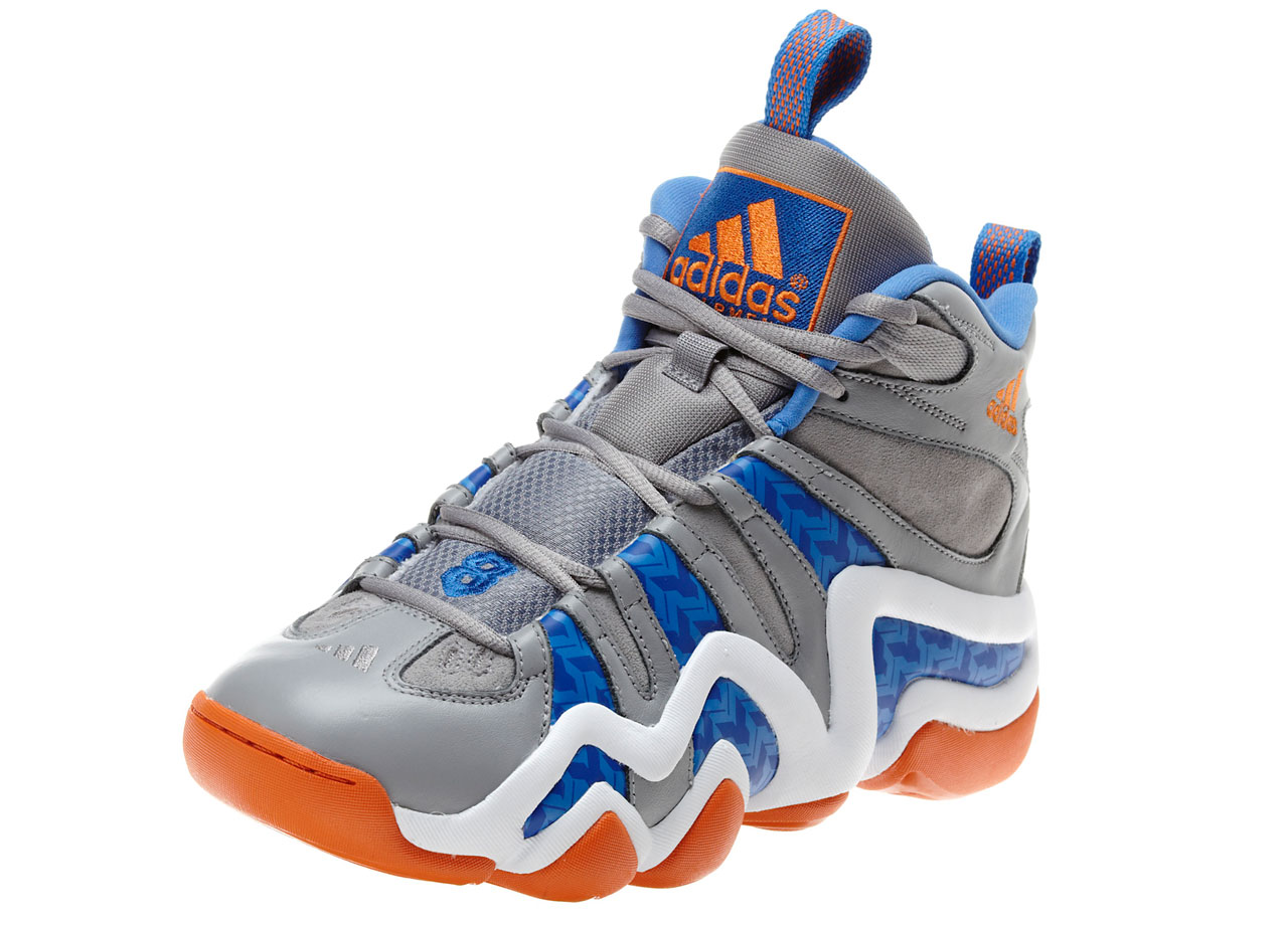 Drafted straight out of high school, Kobe started his rookie season in the adidas EQT Elevation, but his first signature shoe came in 1997 with the adidas release of the KB8, now known as the Crazy 8. With technology said to capture the natural motion of the shoe, the first signature Kobe style had bold lines.