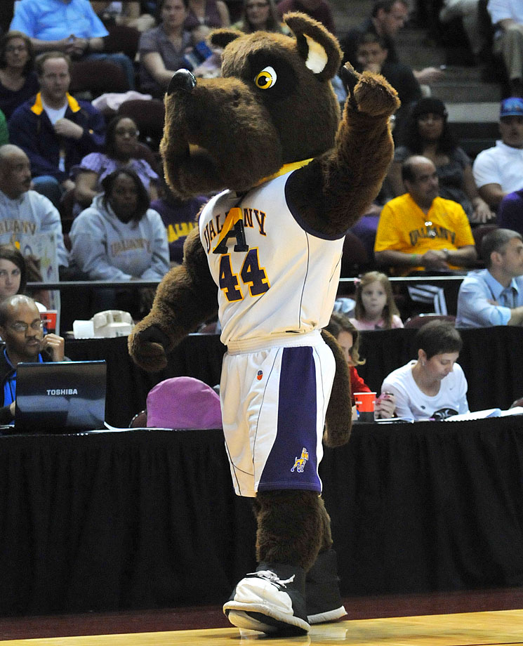 Albany would be ranked higher if it used Scooby-Doo as its mascot, but we won't penalize the school too greatly. This is a mean-looking dog that somehow manages to remain adorable at the same time.