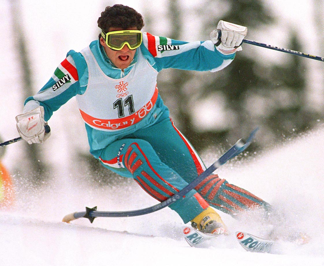 "To merely point out that this Italian slalom skier, nicknamed ""La Bomba, or, ""The Bomb,"" won three golds and two silvers over four Olympics doesn't really do him justice. ""Tomba had a flair for the dramatic and no one has ever made ski racing more exciting and popular to the masses,"" says panelist Brian Pinelli. -- Mark Lebetkin  (SEE THE COMPLETE LIST OF 50 AT THEACTIVETIMES.COM)"