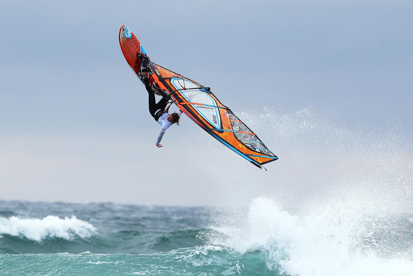 Aleksy Gayda competes during the 28th Tiree Wave Classic at Balephuill Bay in Tiree, Scotland.