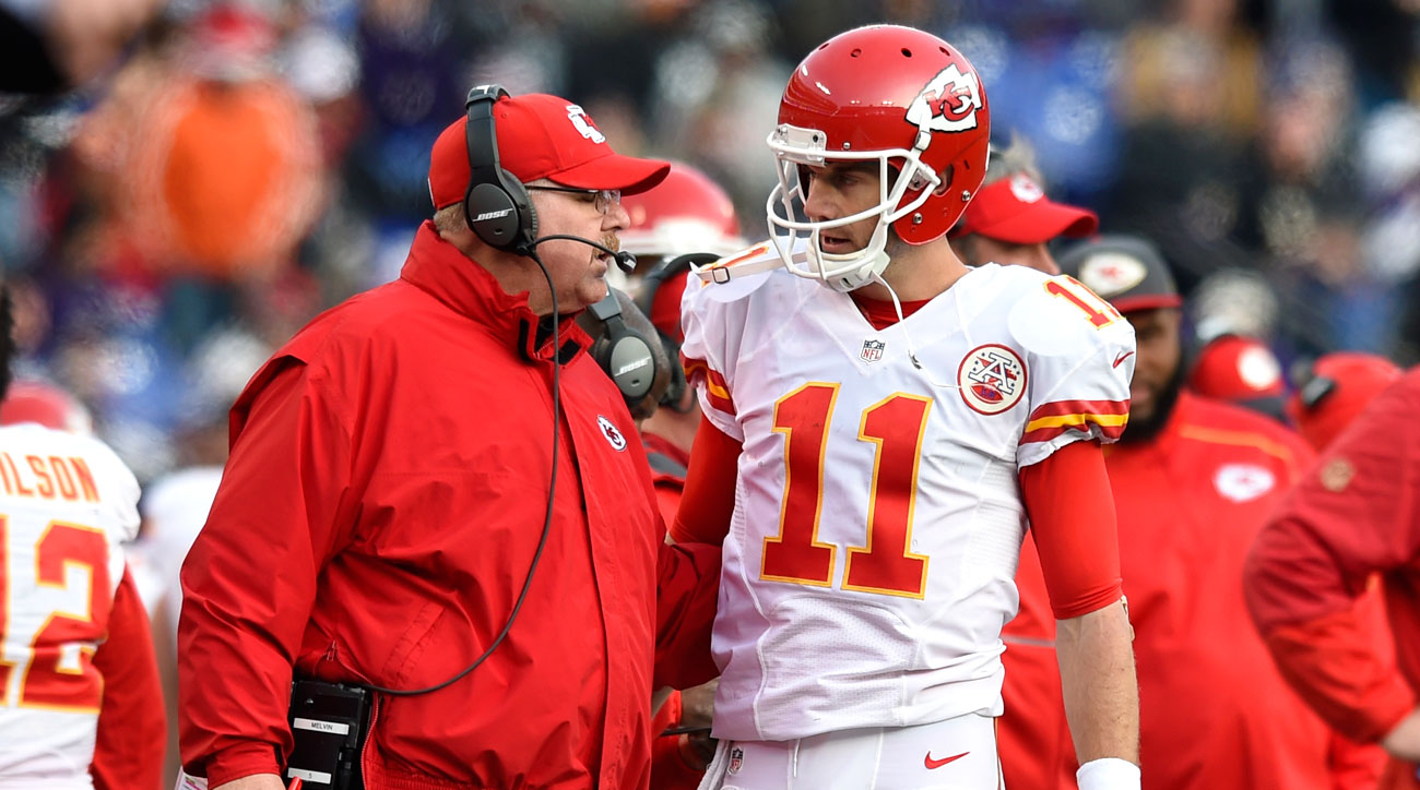 Andy Reid and Alex Smith.