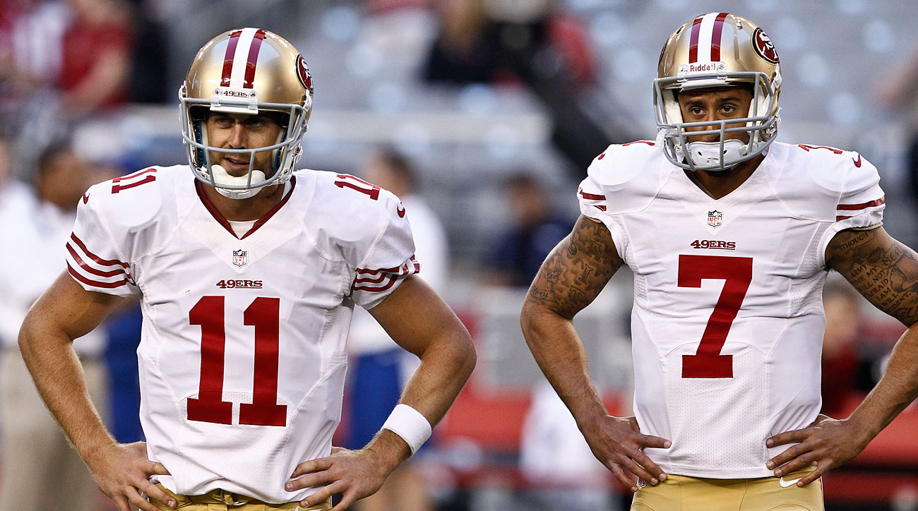 Coaches praised Smith for pitching in after losing the Niners starting job to Kaepernick.