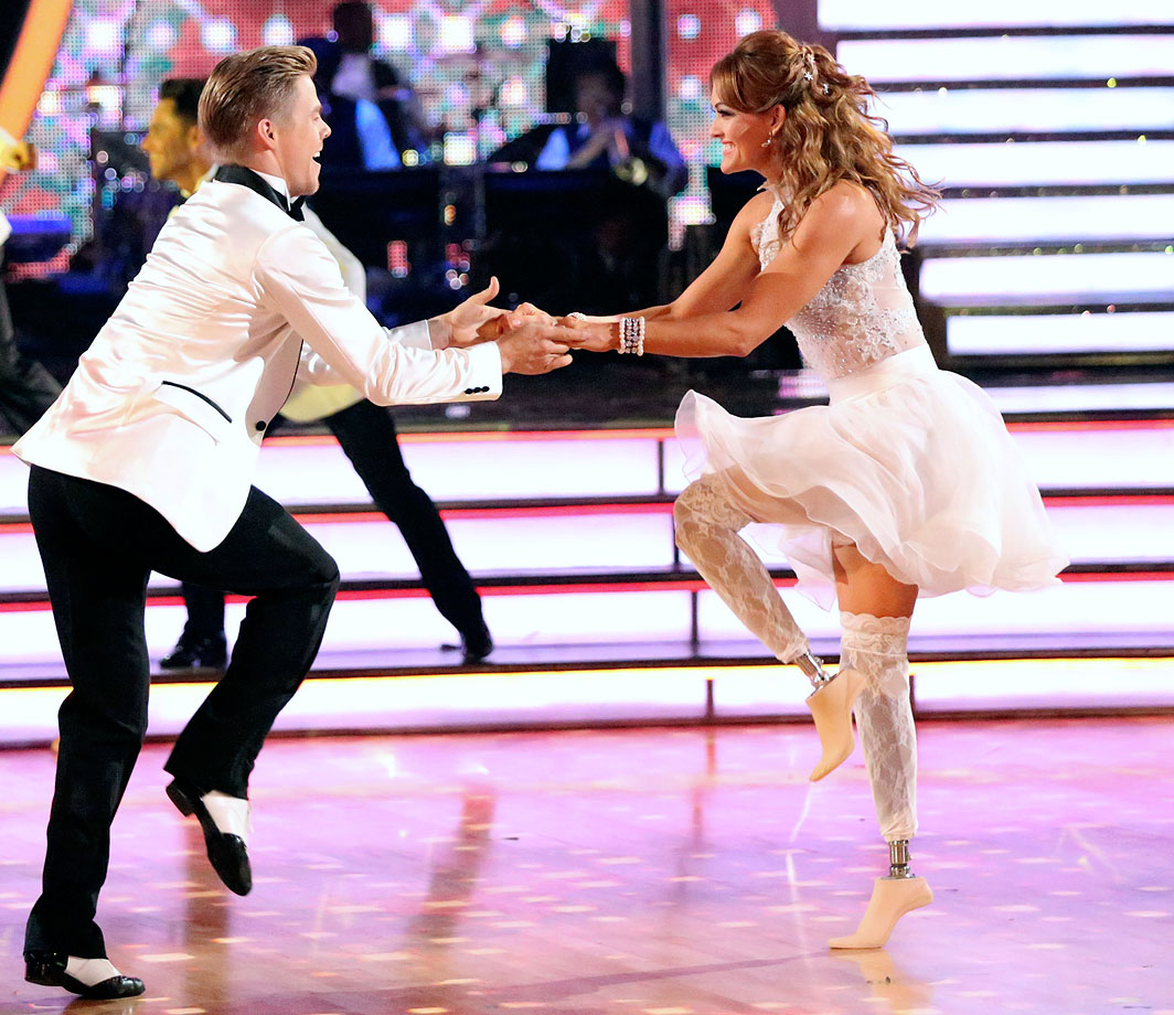 Paralympic snowboarder Amy Purdy finished in 2nd place with dancing partner Derek Hough in Season 18.