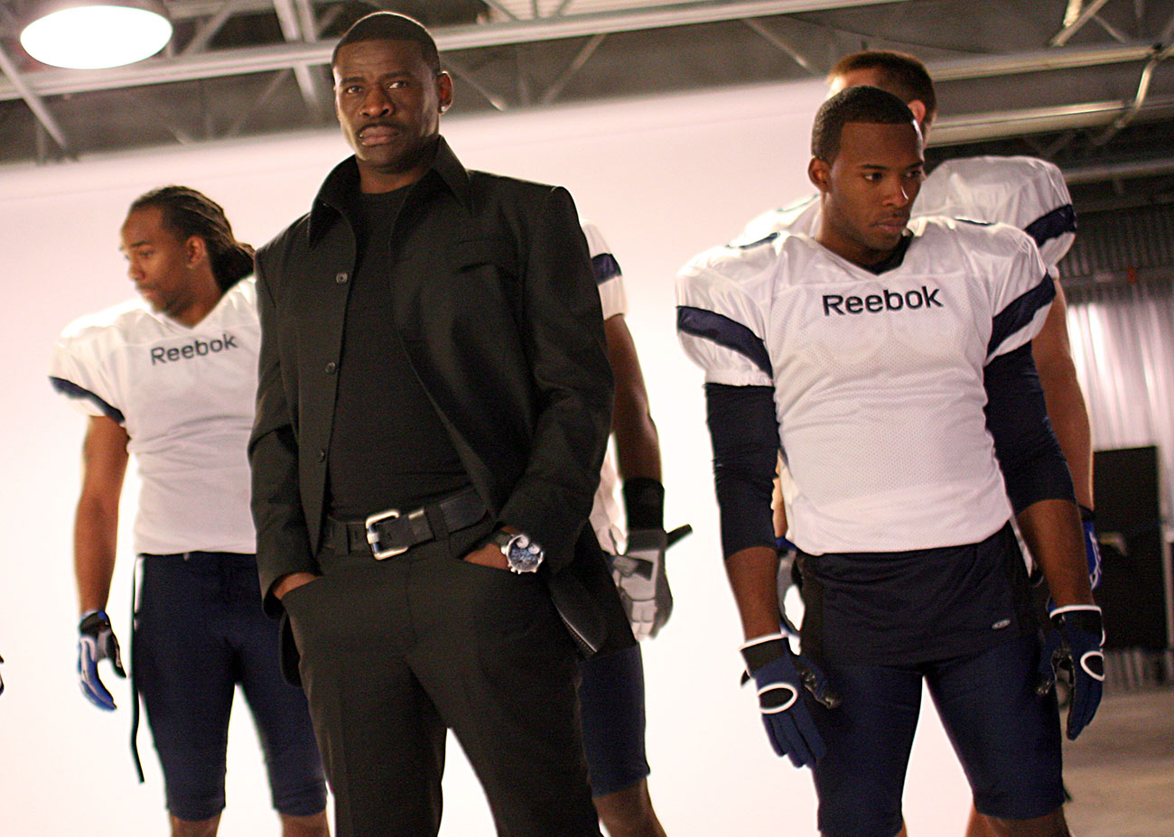 Hawkins (right) got a shot at the NFL in Michael Irvin's 2009 reality show.