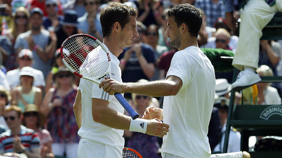 Andy Murray fell in the quarterfinals at Wimbledon to Grigor Dimitrov.