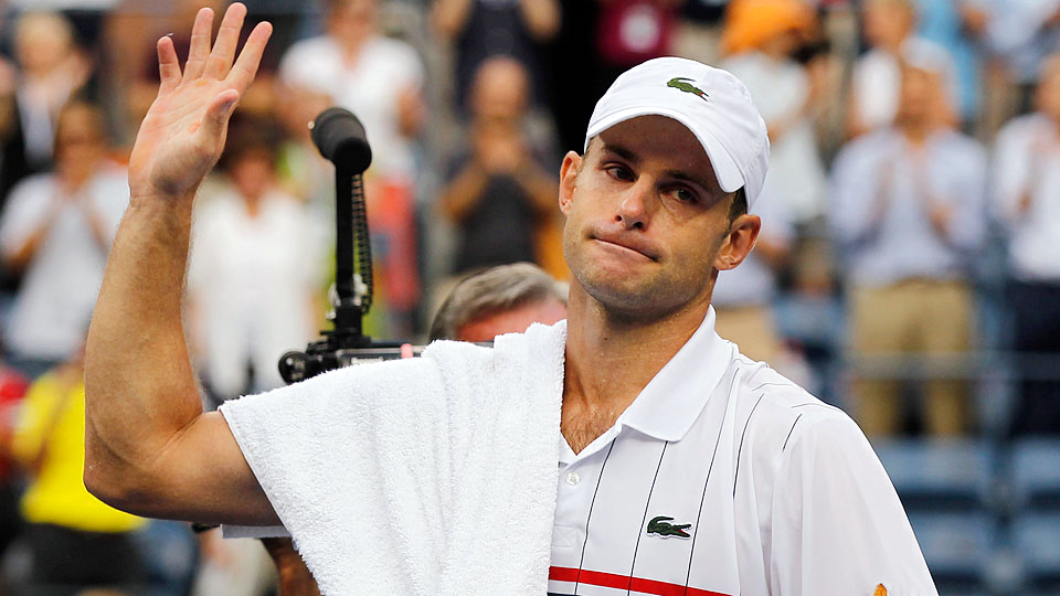 Andy Roddick waved goodbye to professional tennis at the 2012 U.S. Open.