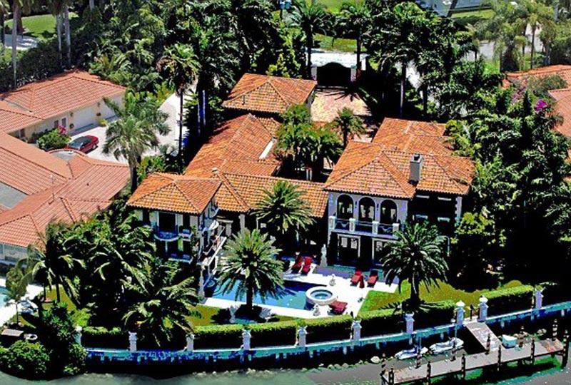 Kournikova's home on Sunset Island, Miami Beach.