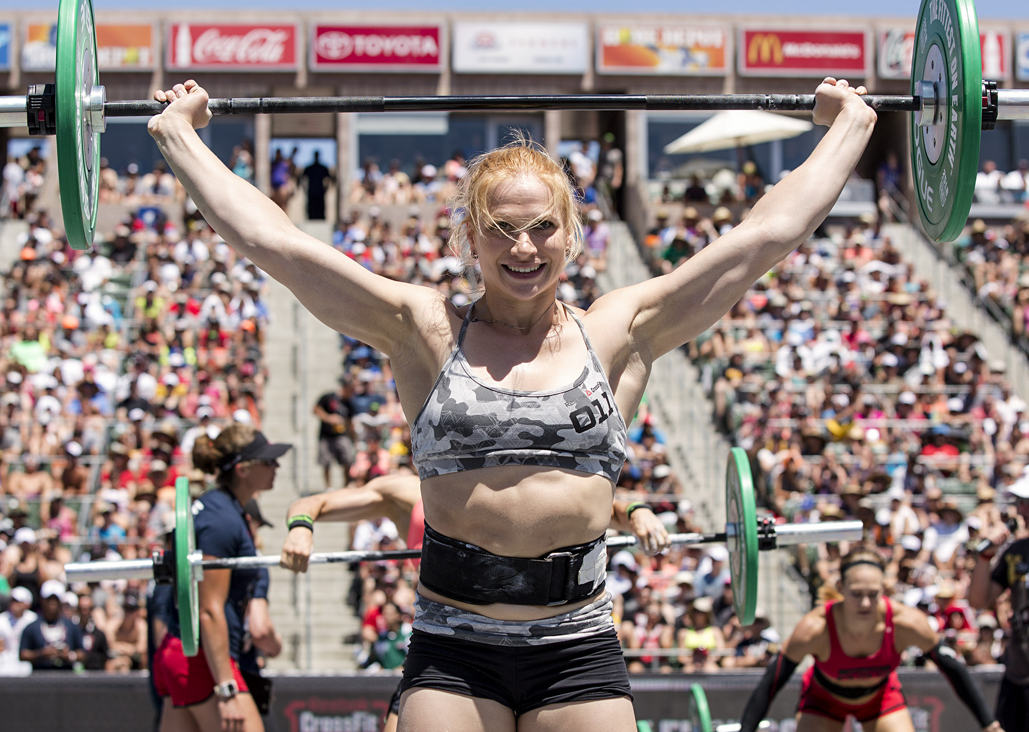 Thorisdottir hails from Iceland where she participated in gymnastics, dance and pole-vaulting growing up, and has done CrossFit for about two to four years. She is the only female to win the CrossFit Games twice, with titles in 2011 and 2012.