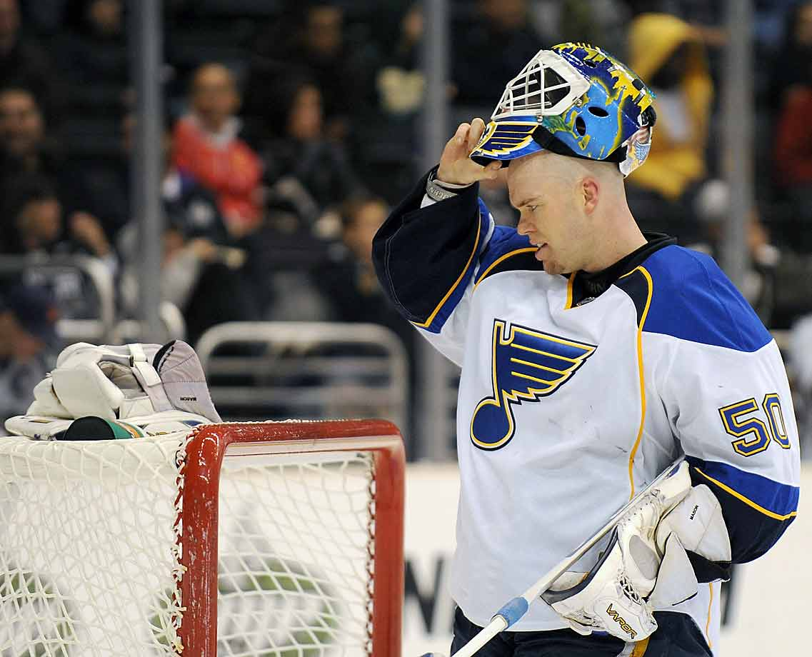 Mason, 32, was in his first season as the Blues' backup goalie when he fell ill and needed surgery in October. His record 0-1 when he got sick, he returned less than three weeks later only to continue what would become a six-game losing streak en route to 4-13-1 mark by the following January 19. Eventually he regained his form and finished with 57 appearances including four in the playoffs.