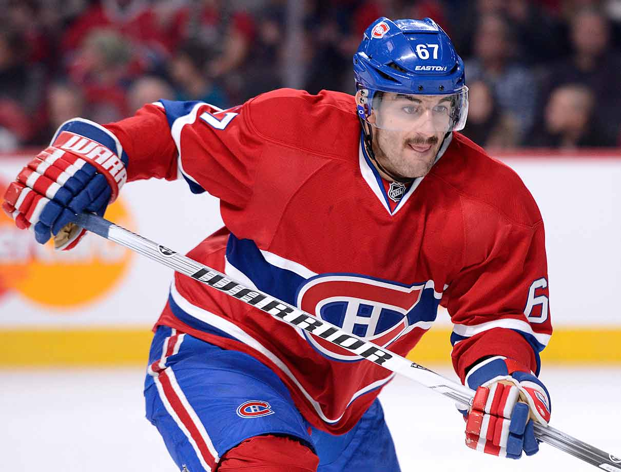 Expected to miss three to four weeks after surgery in Montreal on Jan. 26, the Canadiens winger was back in action eight days later.