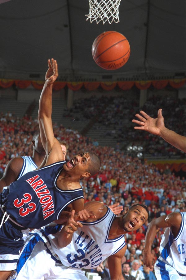 1997: No. 4 Arizona defeats No. 1 Kentucky 84-79 in the national championship game.