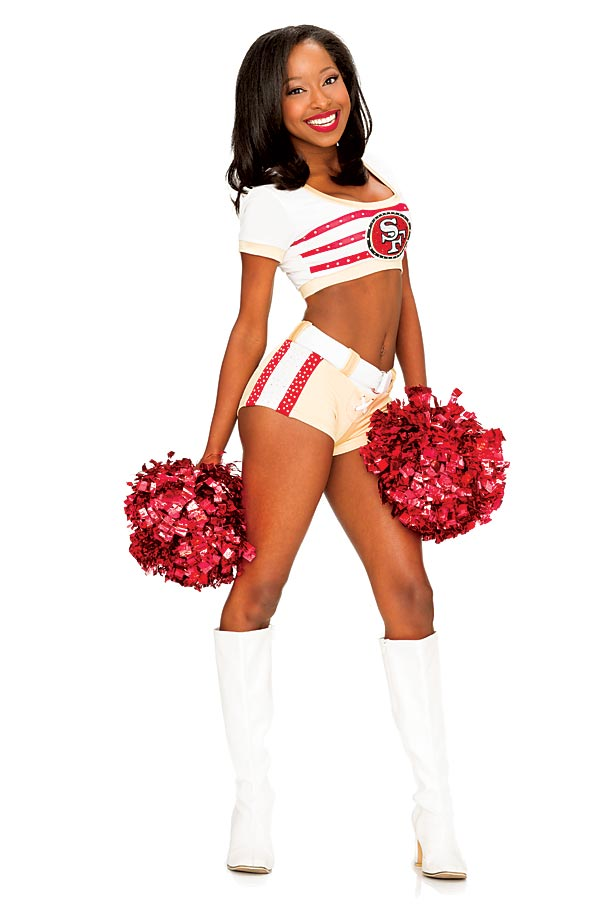Ashley is a graduate student in her first year with the San Francisco 49ers cheerleaders.