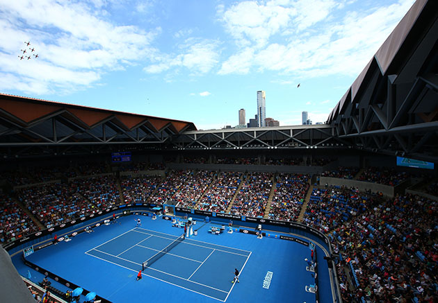 Australian Open 2016 How Melbourne Park Courts Color Are Made Si Com